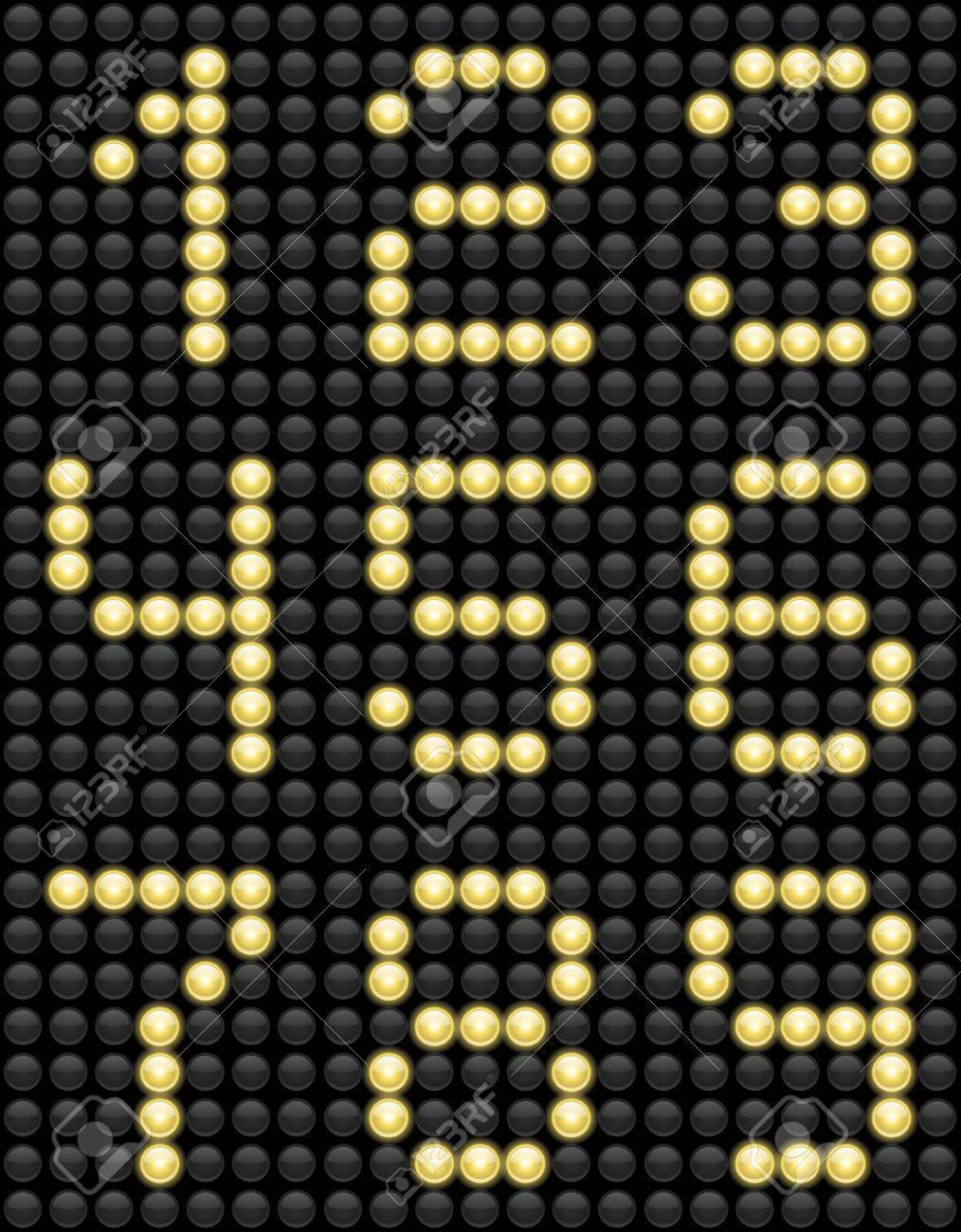 Light Bulb Lamps ABC alphabet Stock Vector - 18239905