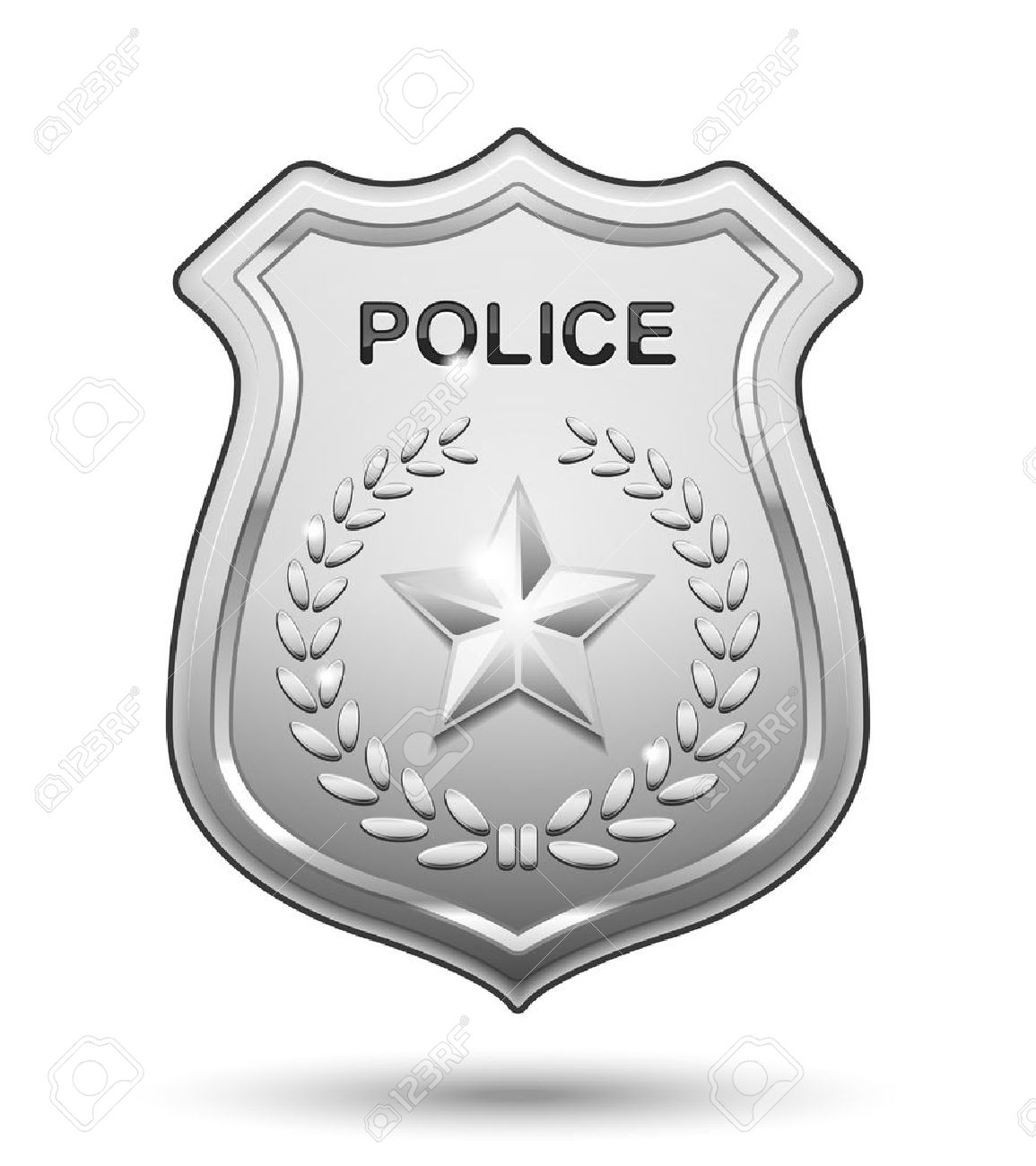 police badge vector police badge isolated on white background illustration