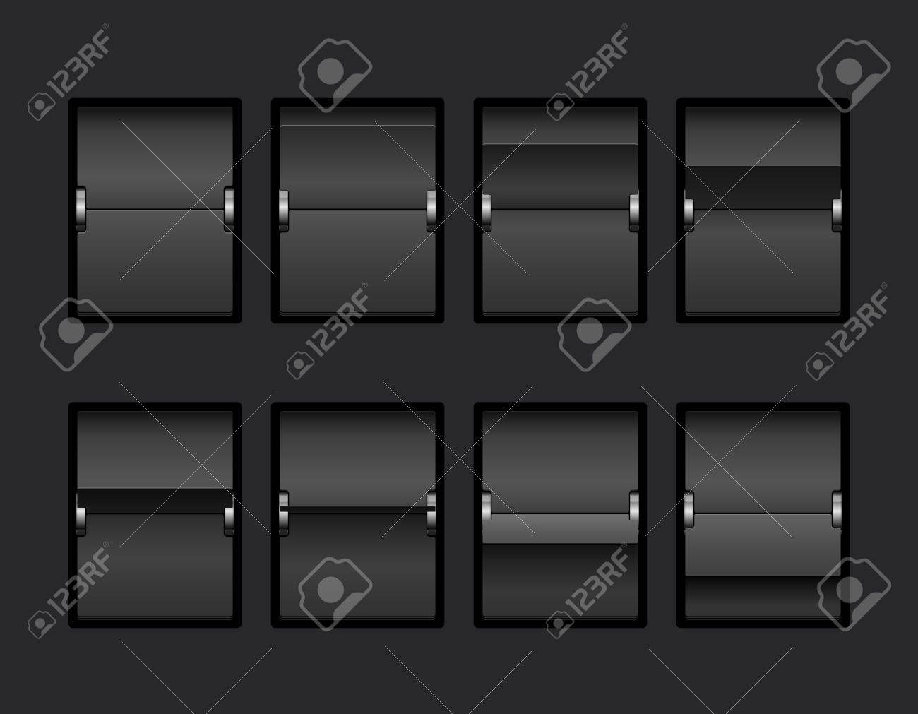 Mechanical Panel Change Process Stages Vector Illustration - 18543547