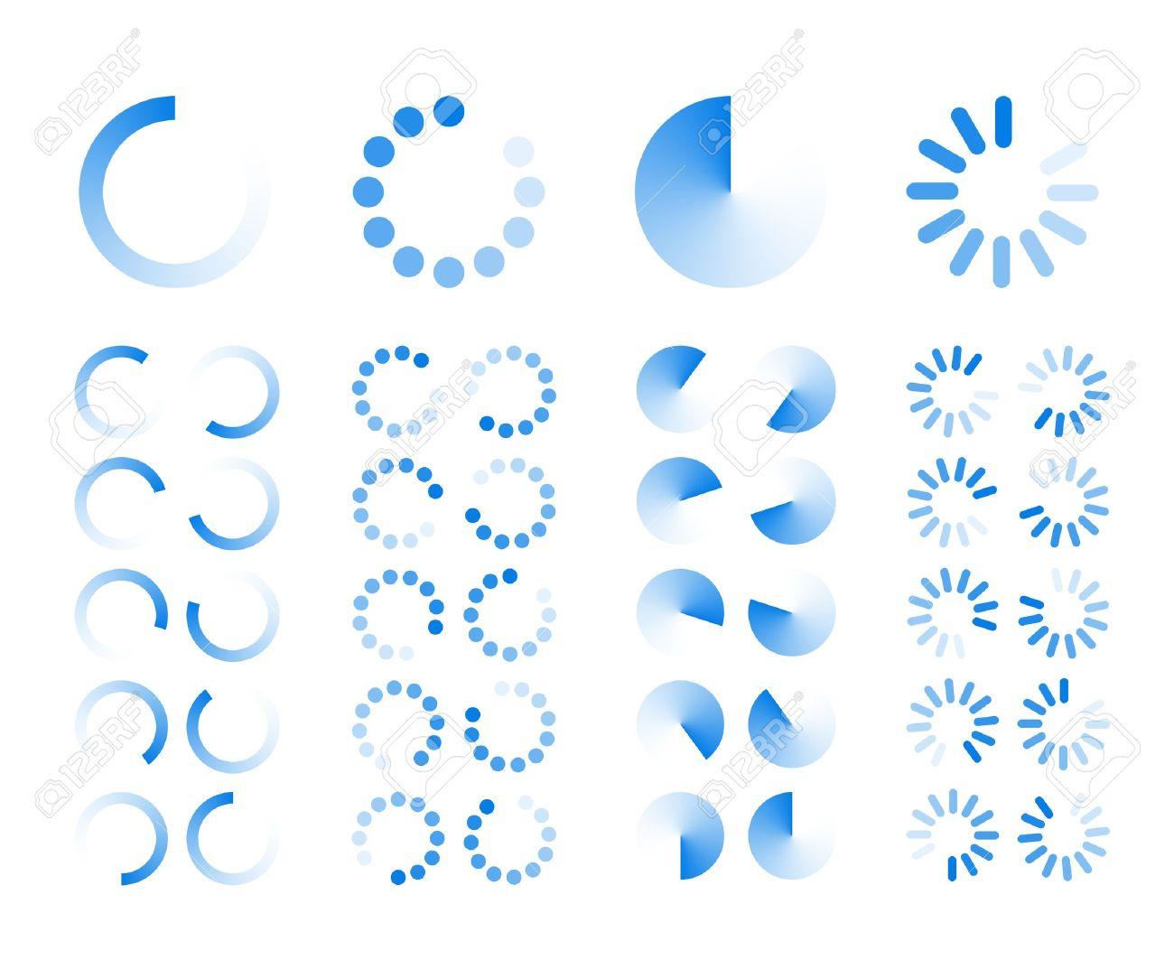 Transparent Progress Indicators icons isolated on white background Stock Vector - 18844825