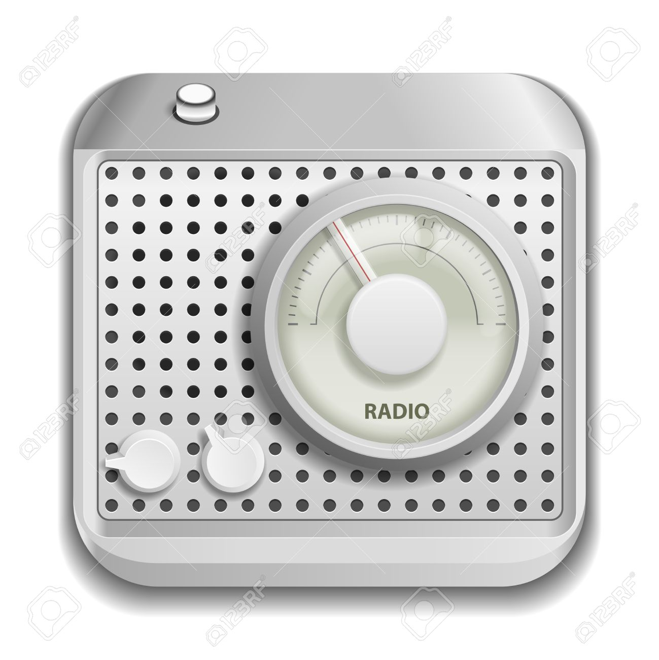 Radio app icon isolated on white background Stock Vector - 19665062