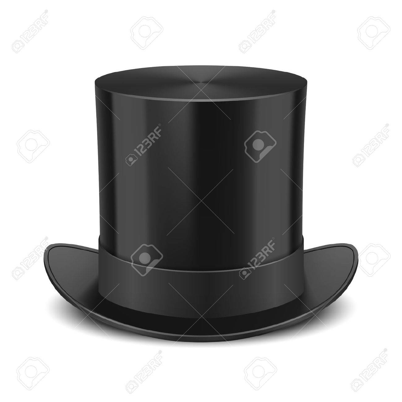 3f036e39a Black Top Hat illustration isolated on white background