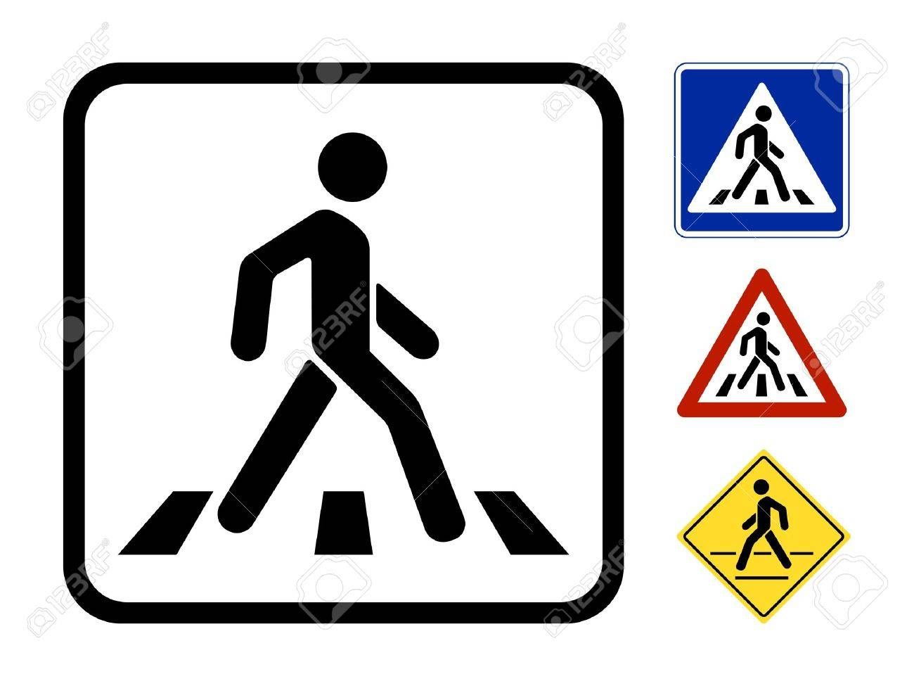Pedestrian Symbol Vector Illustration isolated on white background Stock Vector - 21576547