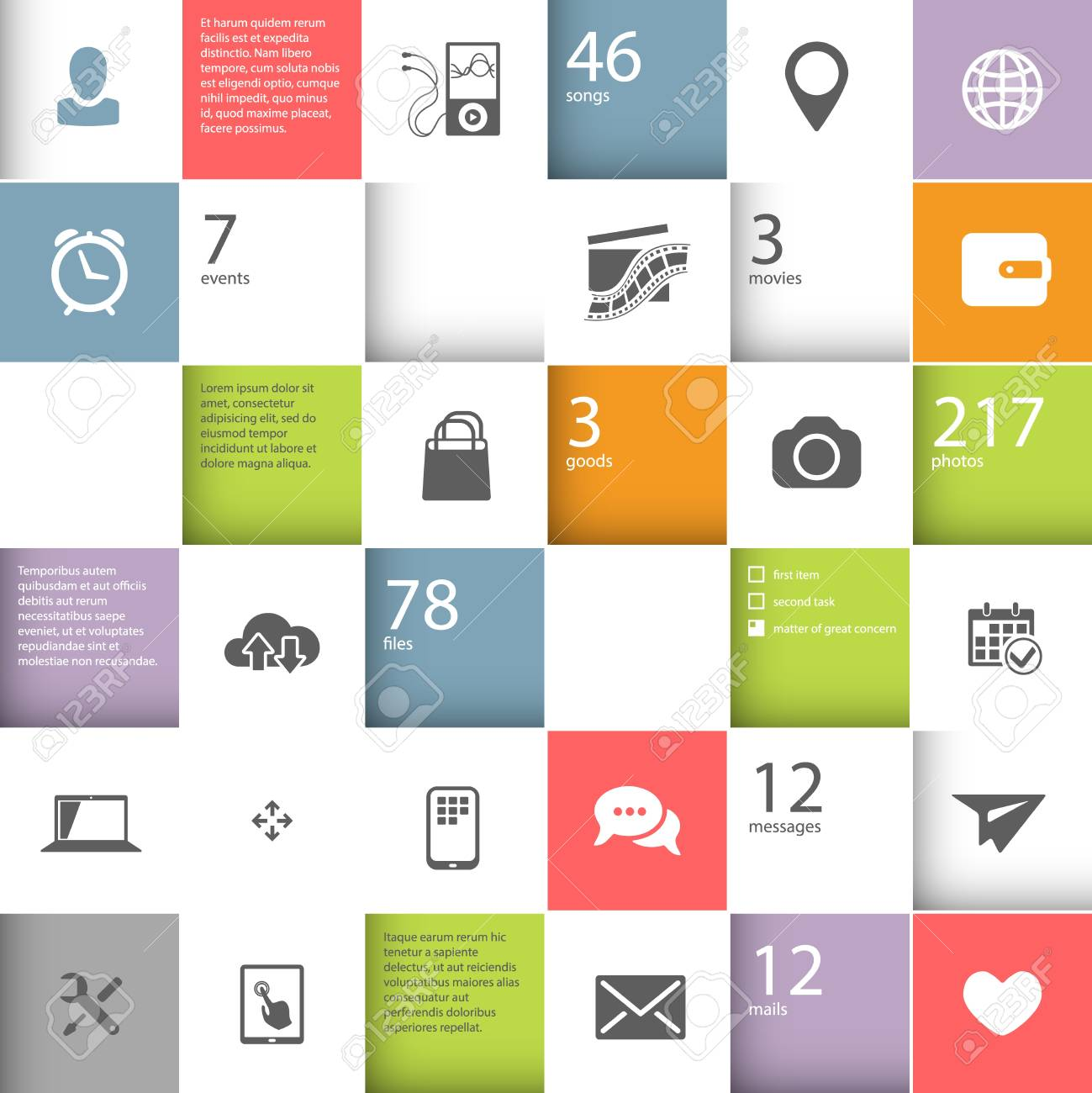 Infographic squares template with place for your content Stock Vector - 22095935