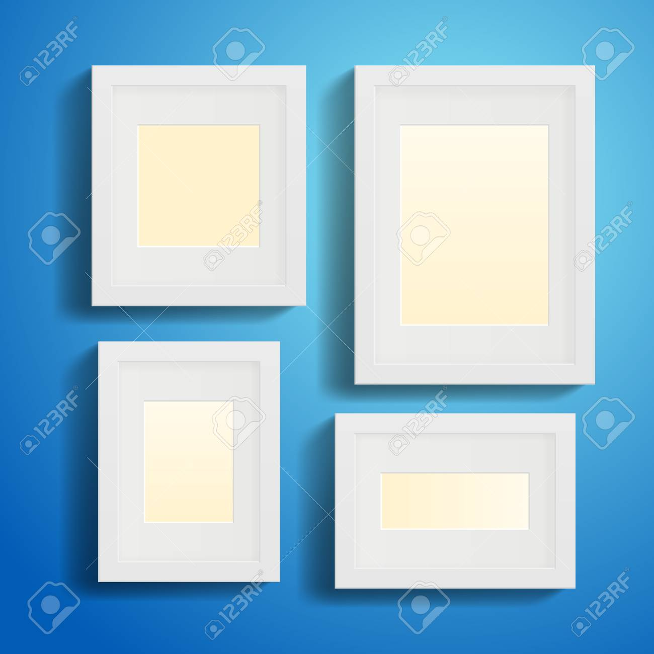 Modern Picture or Photo Frames with shadows Stock Vector - 22787250