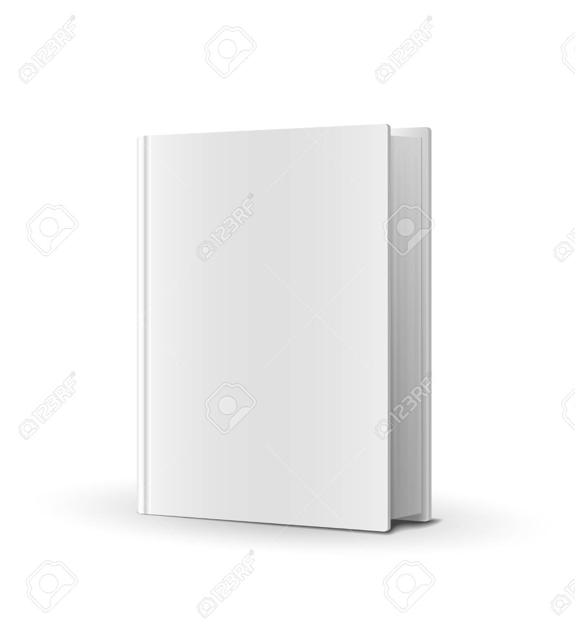 Blank book cover over white Vector Illustration Stock Vector - 22787259