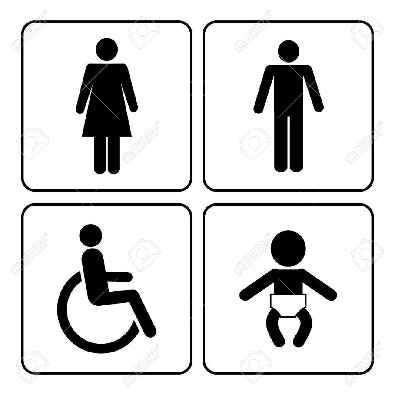 Restroom Symbols Vector Vector Restroom Icons Lady
