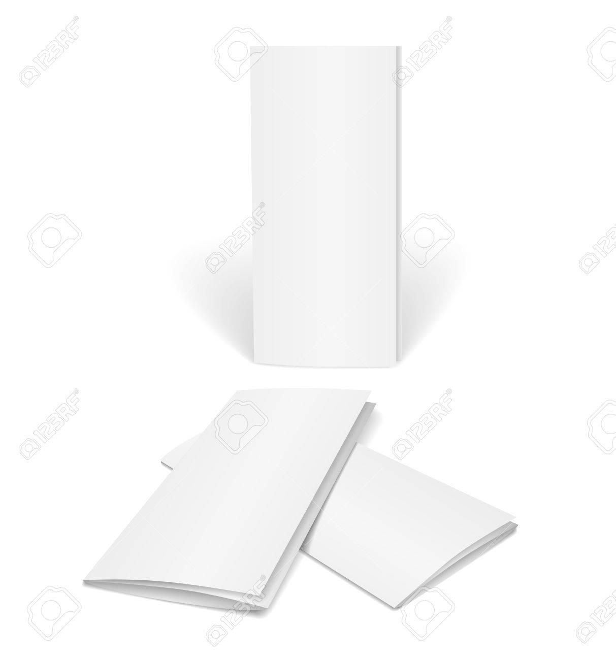 Blanco Vector Plantilla De Folleto Sobre Fondo Blanco Para El Diseño ...