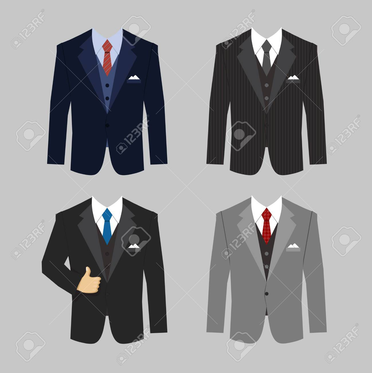 set of different colors business clothing suits vector eps10 illustration Stock Vector - 27163517