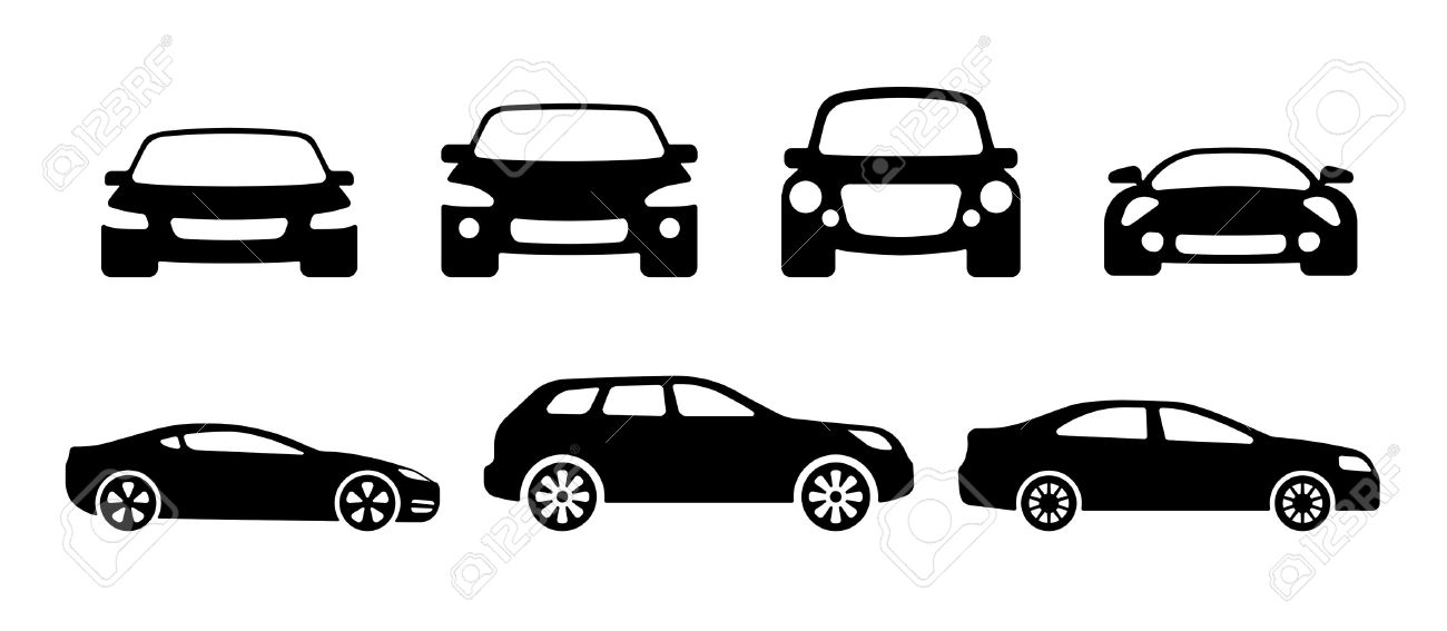 Vector Car Silhouettes Sports Car Suv And Ordinary Car Royalty