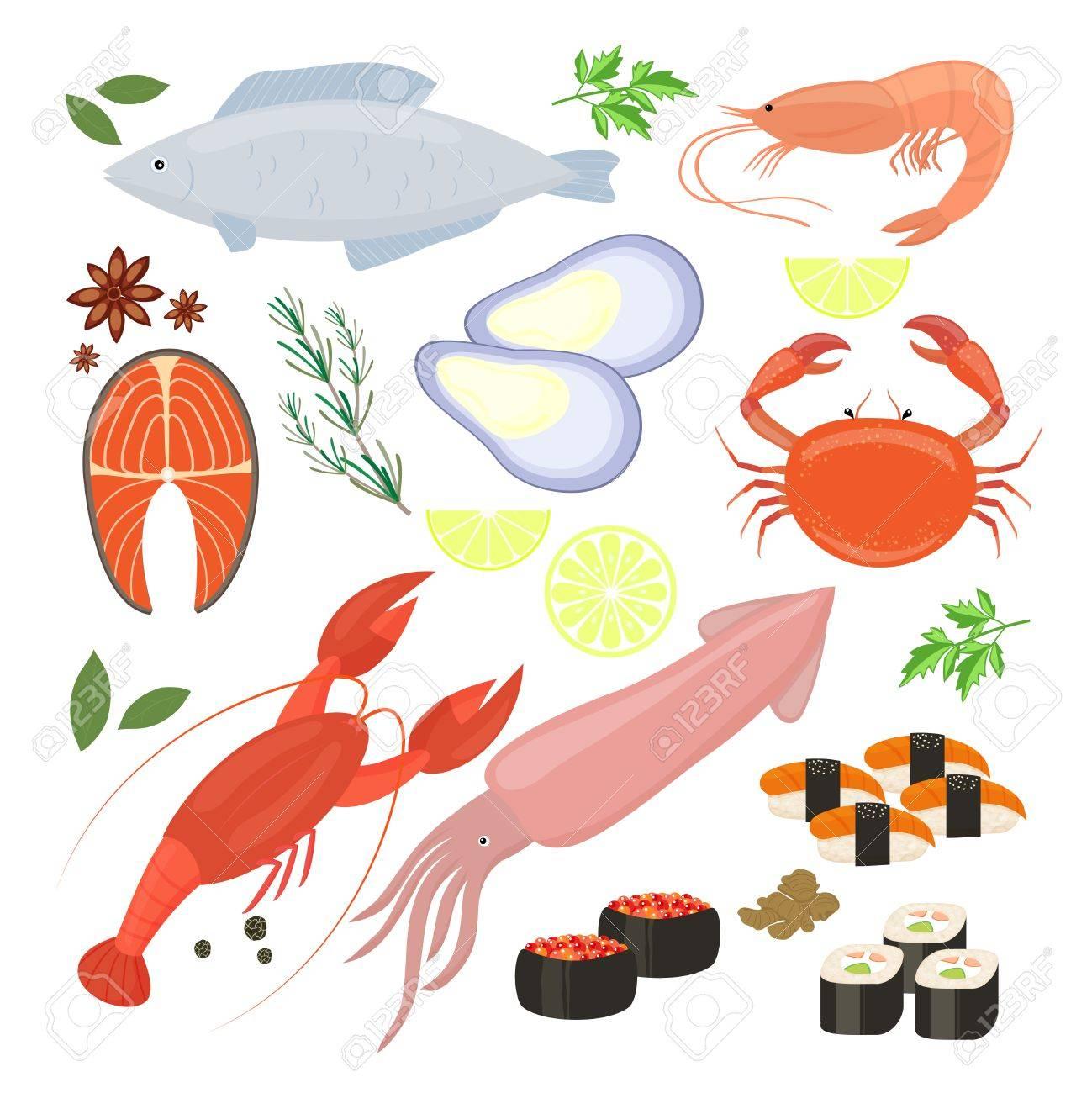 魚介類エビ寿司のアイコンの選択のイラスト素材ベクタ Image 32163106