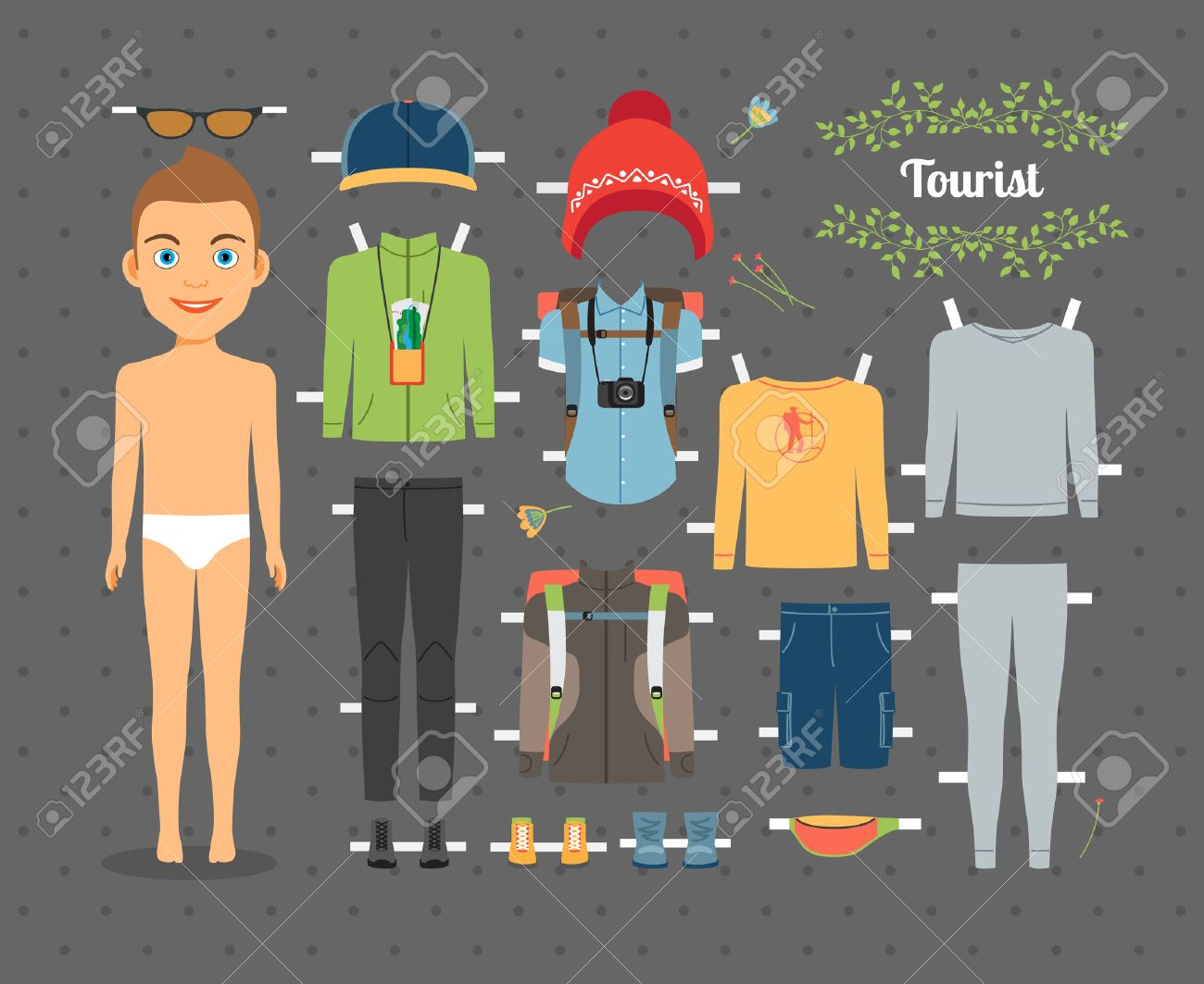 Paper Doll Stock Photos Pictures Royalty Free Paper Doll Images 34568118  Tourist Boy Paper Doll With