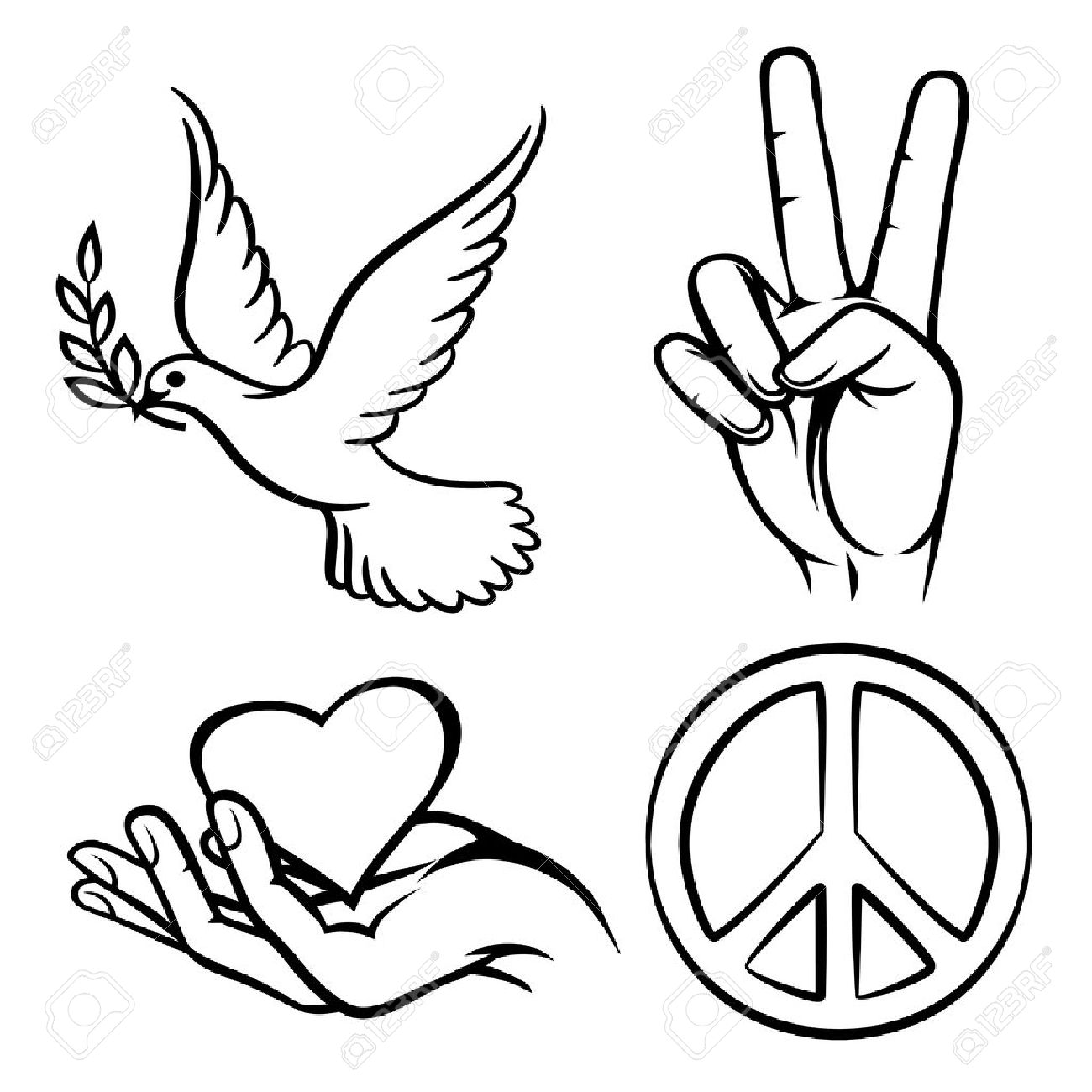 Peace Symbols Royalty Free Cliparts Vectors And Stock Illustration