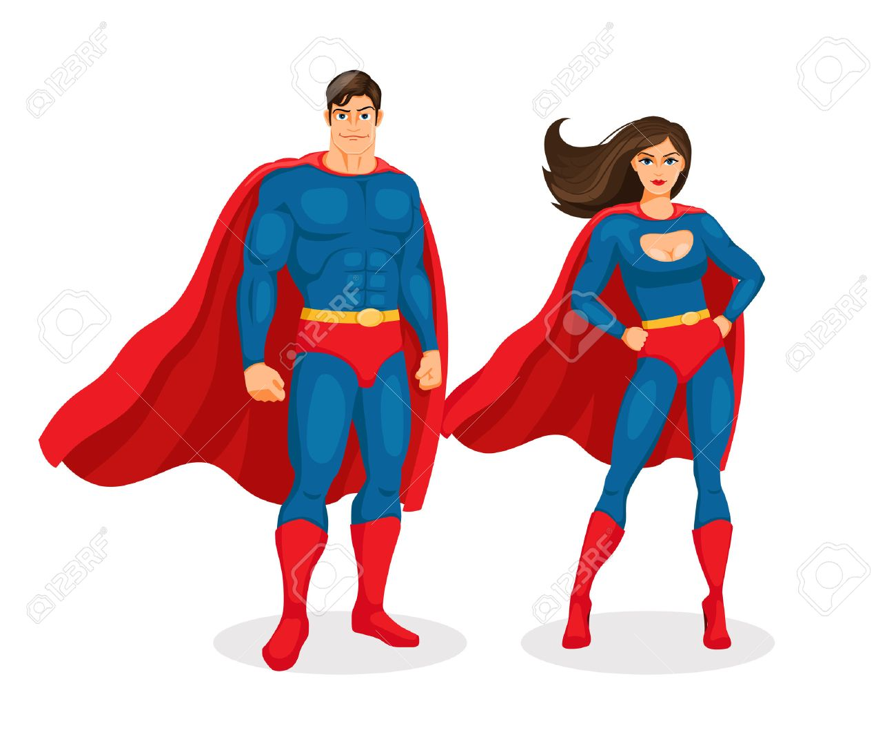 vector superhero couple royalty free cliparts vectors and stock rh 123rf com super hero vector superhero vector image licensing