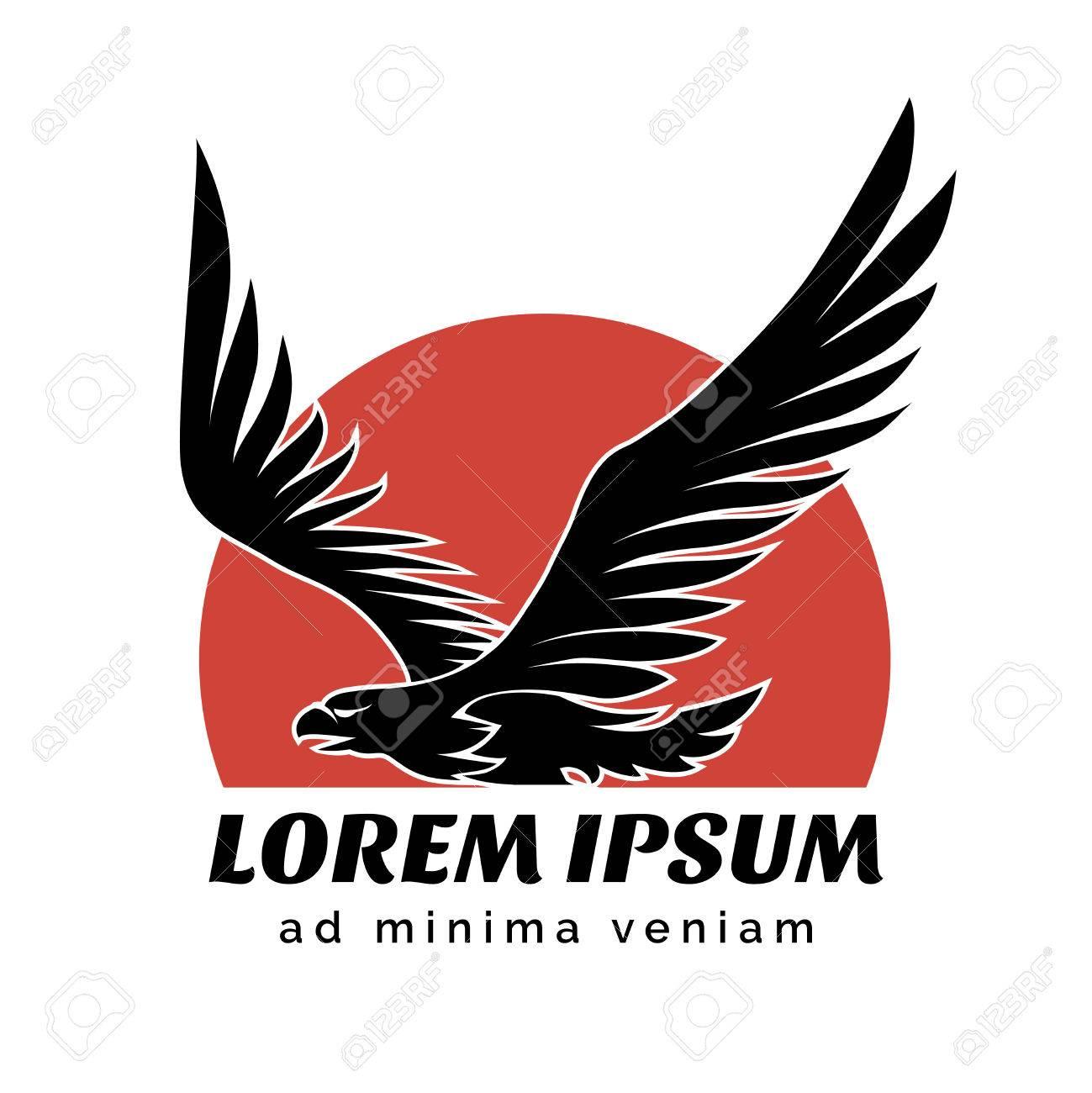 Connu Aigle Au-dessus Sun Logo Signe Clip Art Libres De Droits  VA62