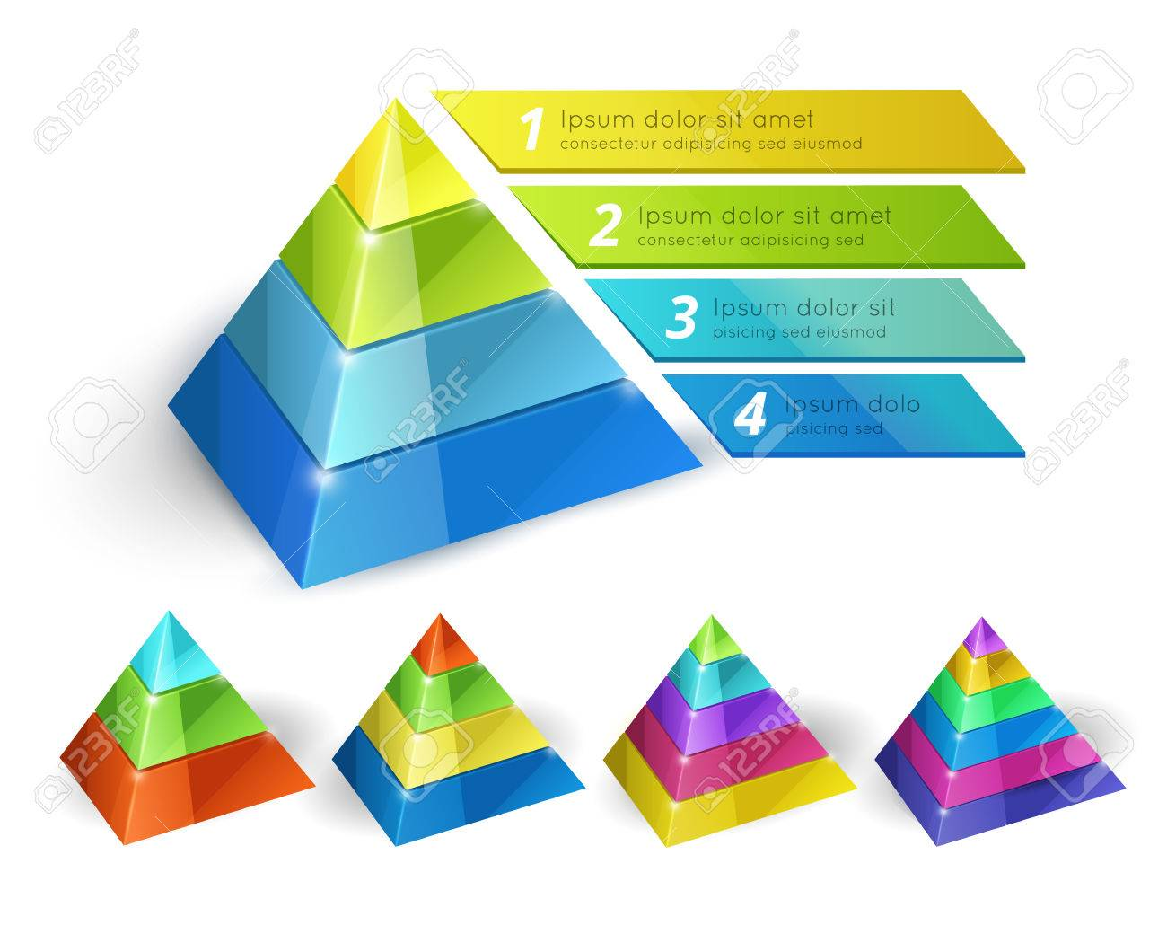 Pyramid Chart Templates Royalty Free Cliparts, Vectors, And Stock ...