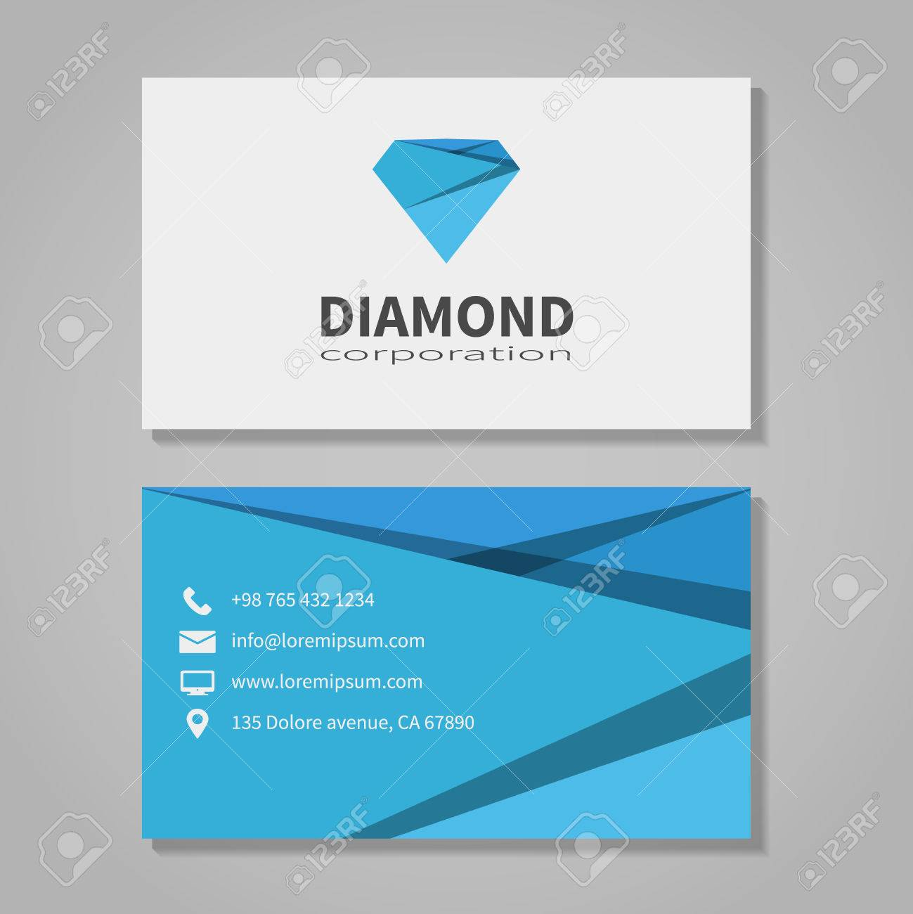 Diamond corporation business card template royalty free cliparts diamond corporation business card template stock vector 37844600 colourmoves