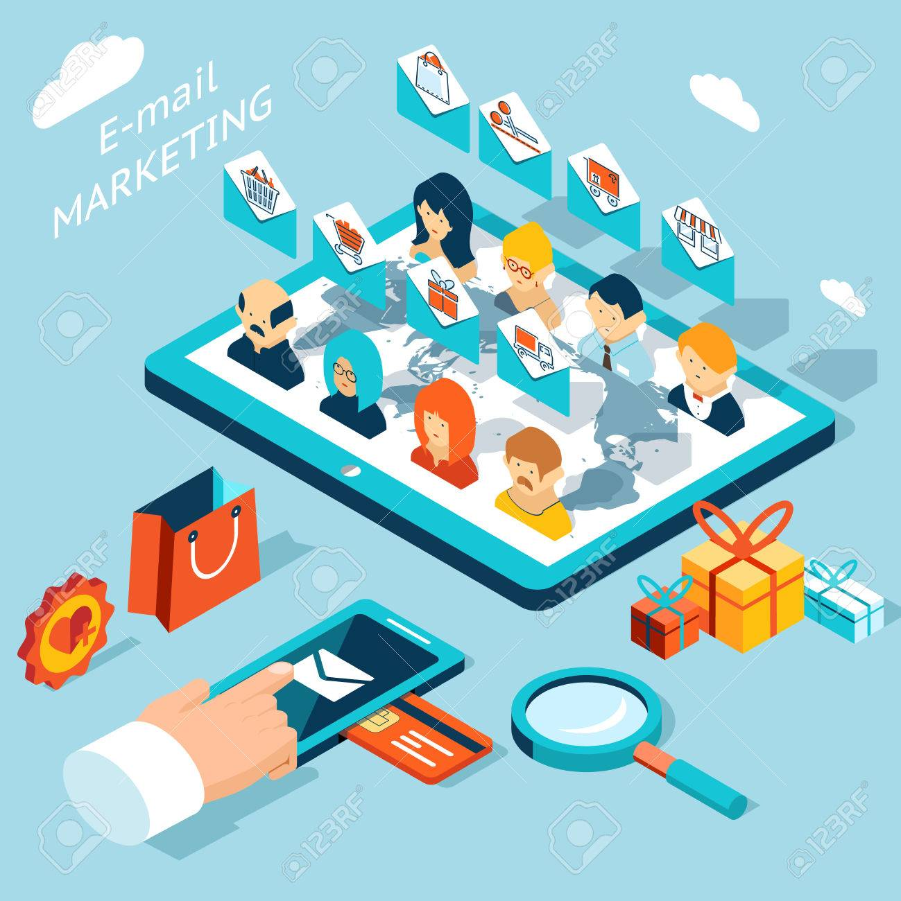 Mobile app for email marketing. Manage mailing from your smartphone or tablet pc - 39567293