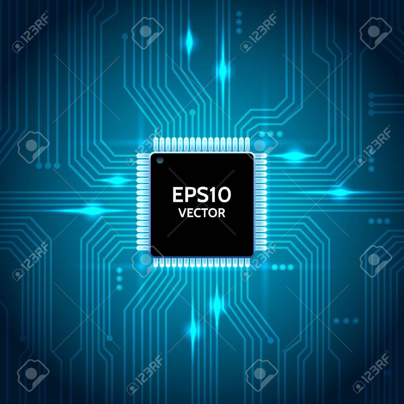 Circuit board vector background - 39898698