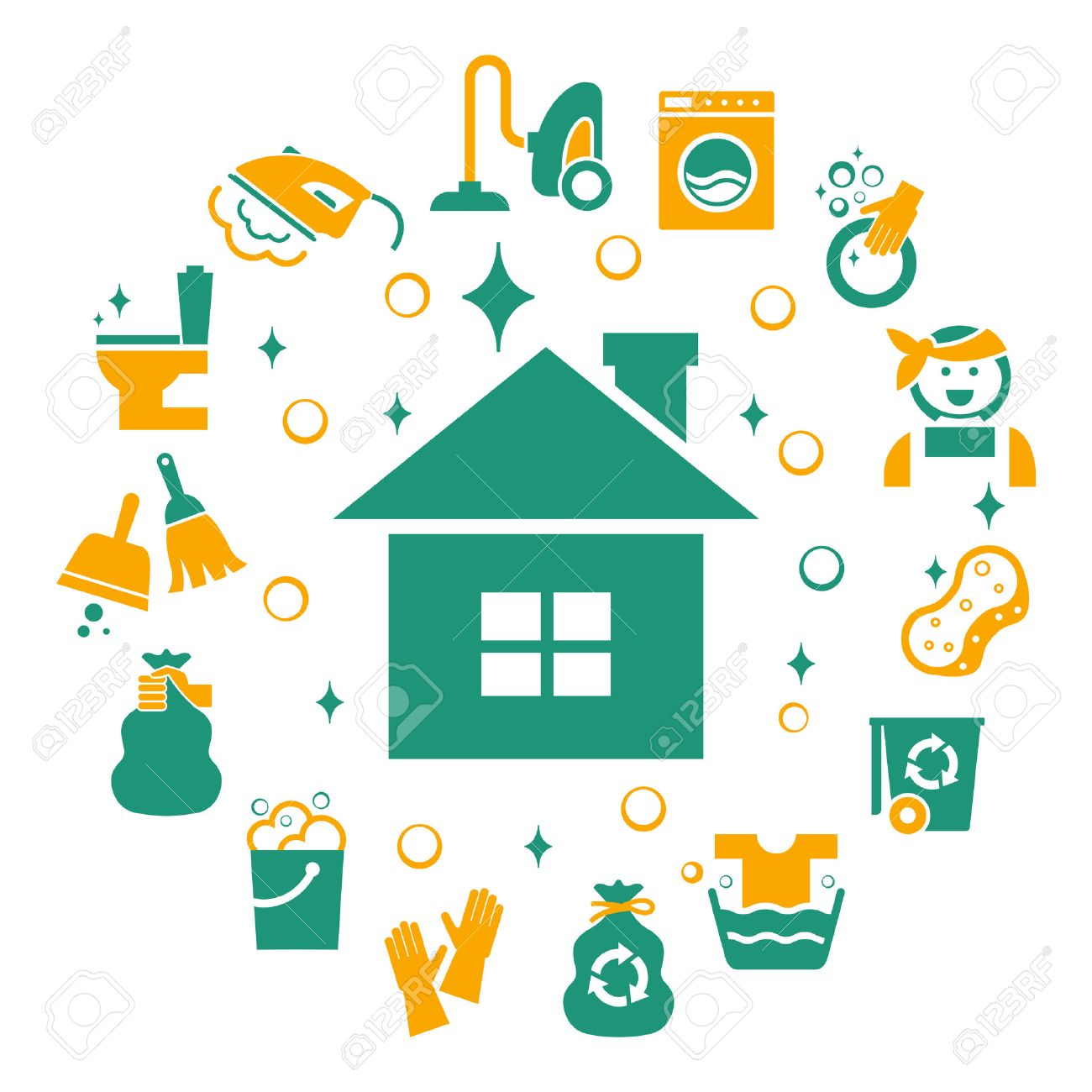 housekeeping images stock pictures royalty housekeeping housekeeping household cleaning icons set sponge and housework glove and bucket wash