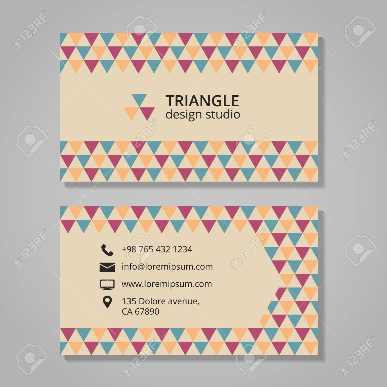 Carte De Visite Avec Fond Triangulaire Gomtrique Et Web
