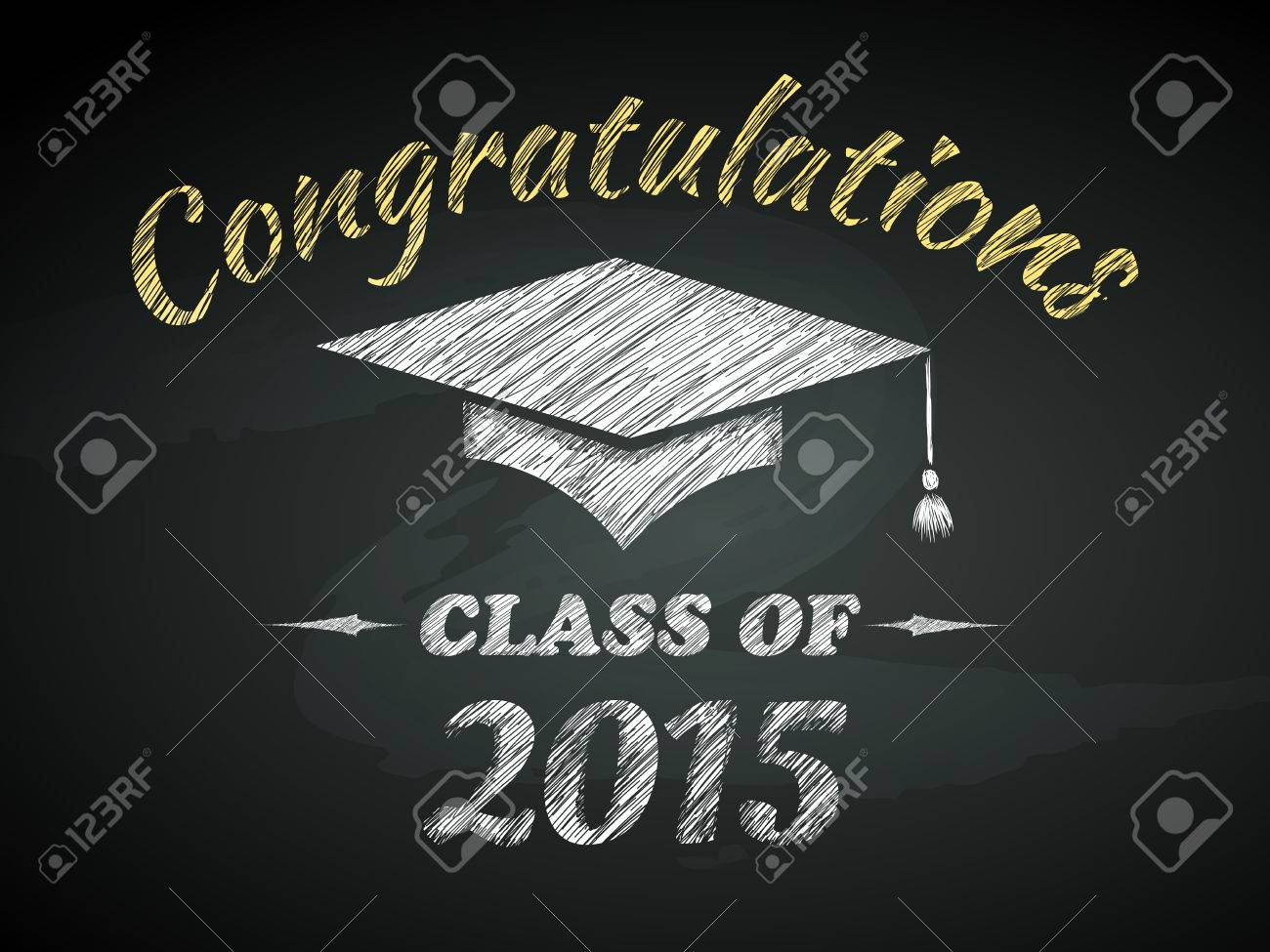 class of graduation congratulations poster vector illustration