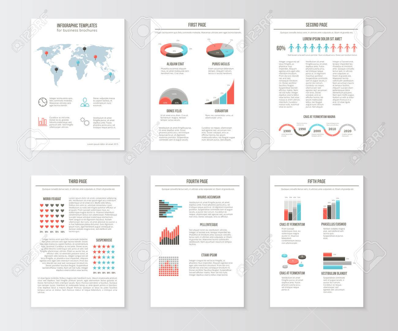 Set of templates for business brochures web pages and flyers set of templates for business brochures web pages and flyers infographic presentation graphic flashek