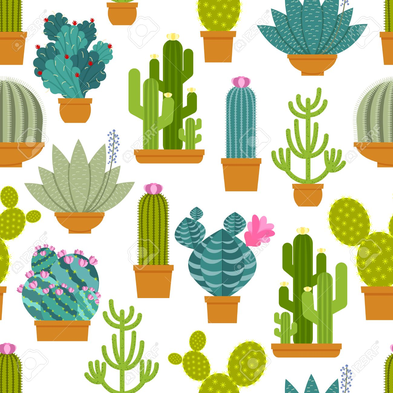 cactus seamless pattern. plant and nature, mexican wallpaper