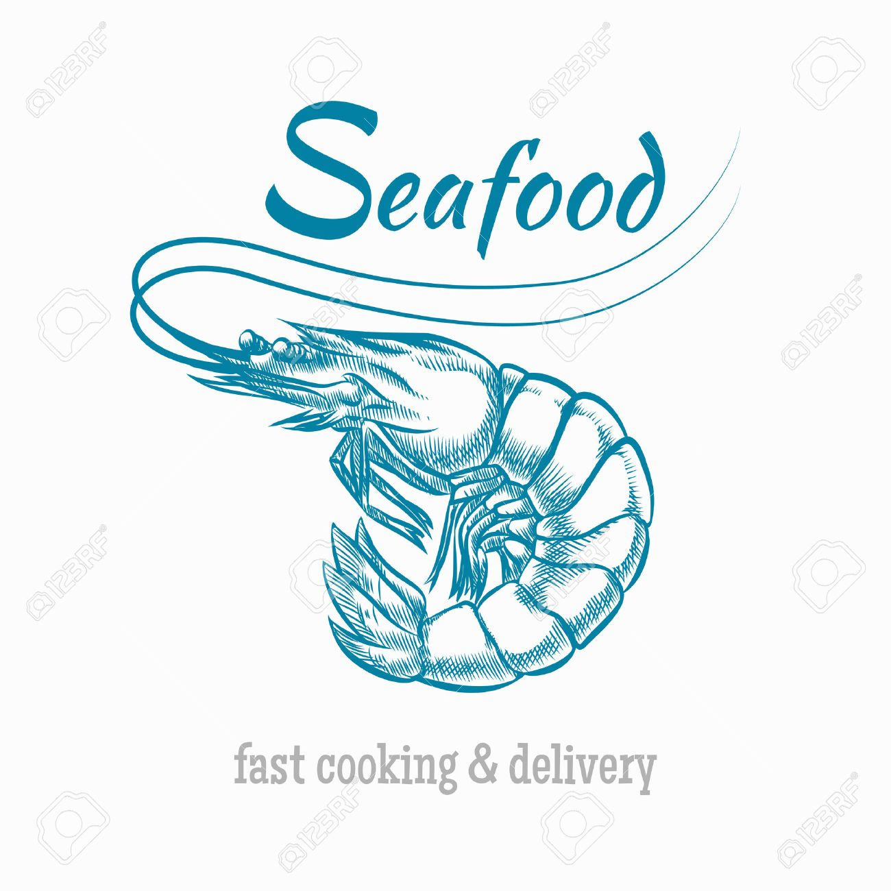 Vector Sketch Shrimp Seafood Sketch Animal Restaurant And Prawn Royalty Free Cliparts Vectors And Stock Illustration Image 43675954