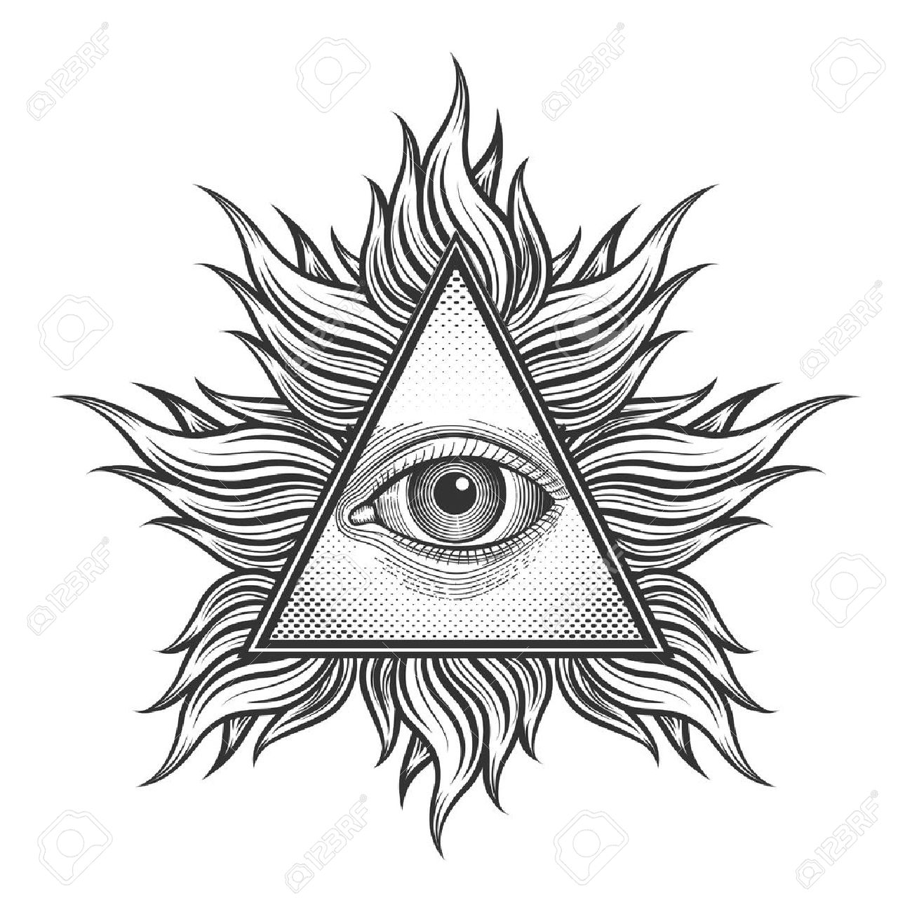 All seeing eye pyramid symbol in the engraving tattoo style all seeing eye pyramid symbol in the engraving tattoo style freemason and spiritual illuminati biocorpaavc