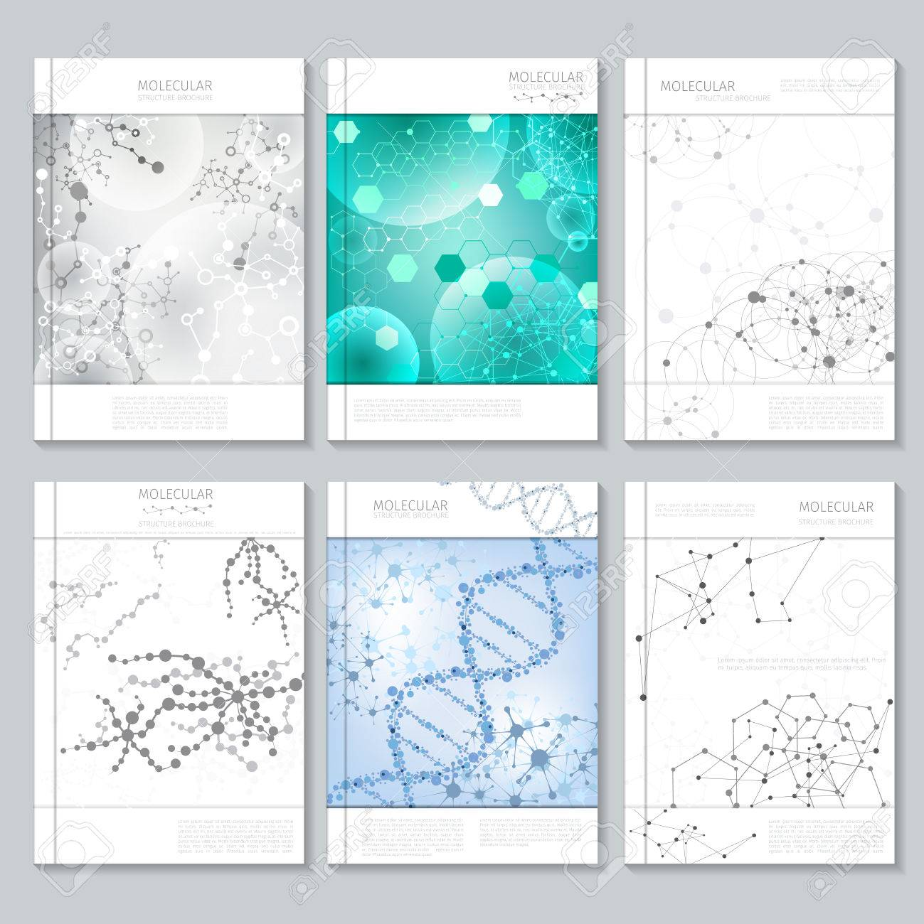 molecular structure brochure or report templates for business molecular structure brochure or report templates for business poster or booklet presentation and publication