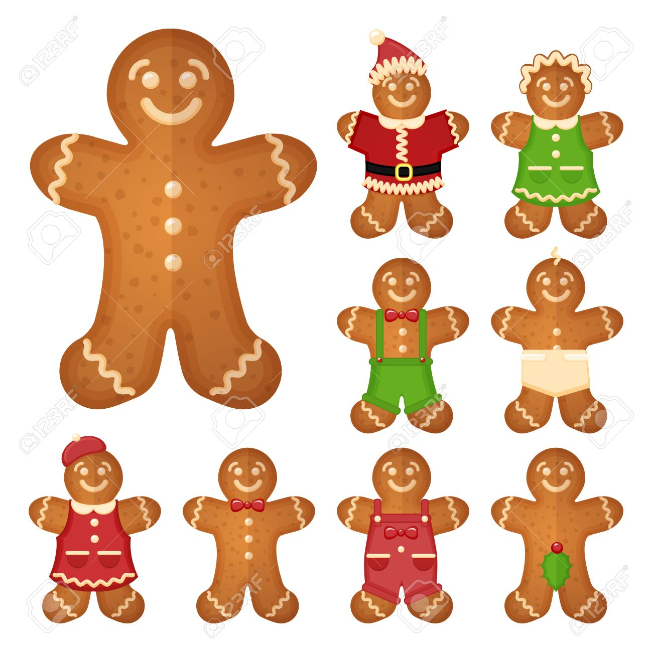 Gingerbread Man Christmas Cookie Holiday Sweet Food Traditional