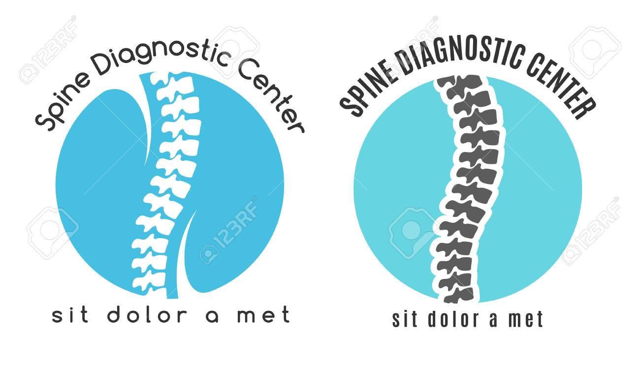 Spine Médica Símbolo De Diagnóstico. Medicina Y Anatomía, Columna ...