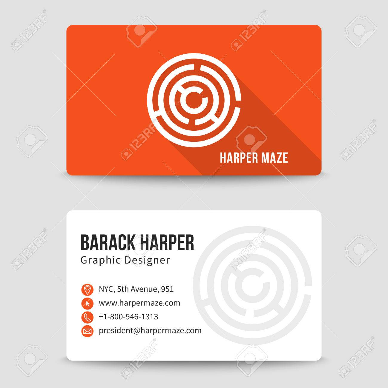 Modern business card template with maze address and phone number modern business card template with maze address and phone number website and email cheaphphosting Image collections