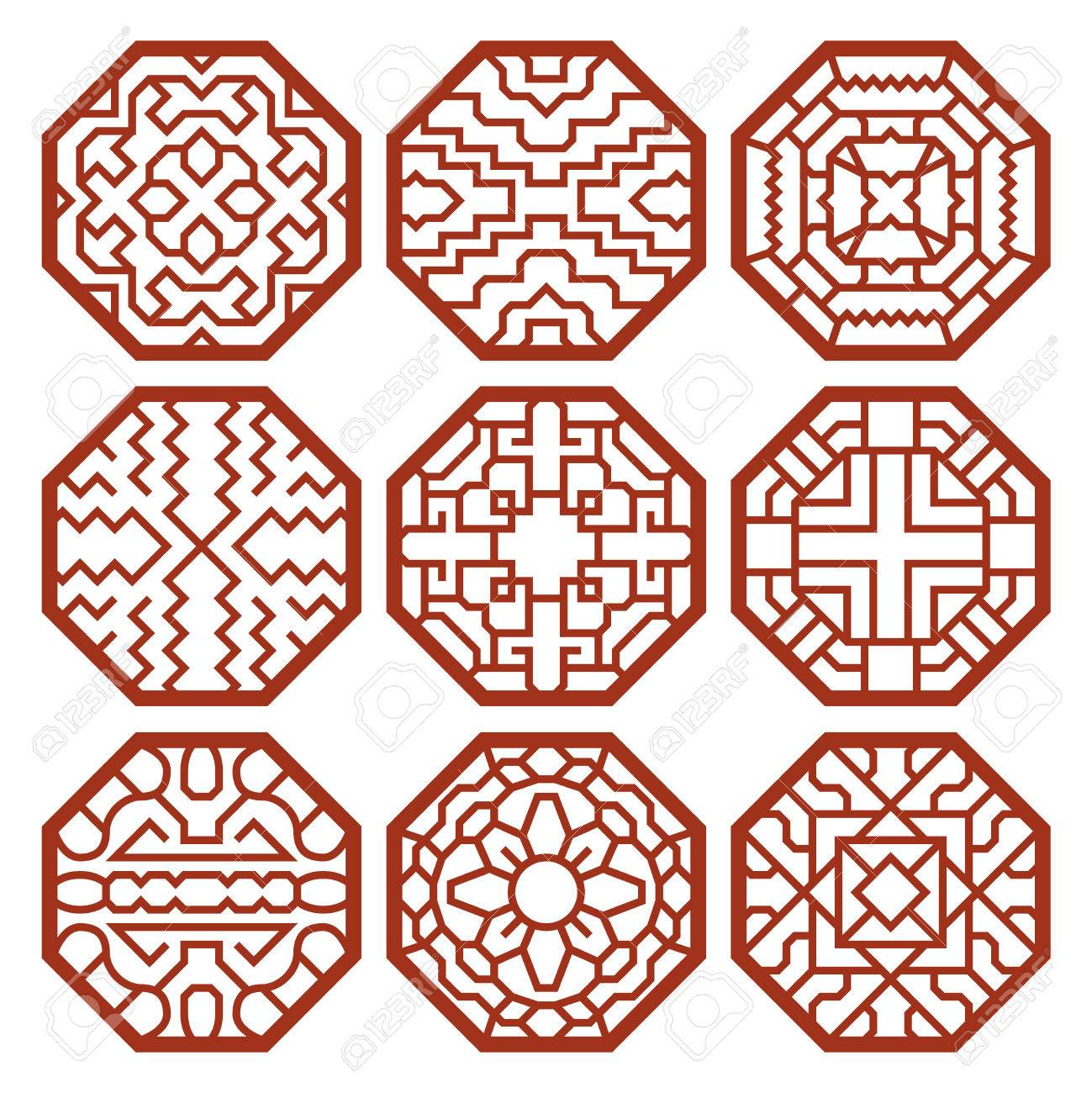 Korean Traditional Vector Patterns Ornaments And Symbols