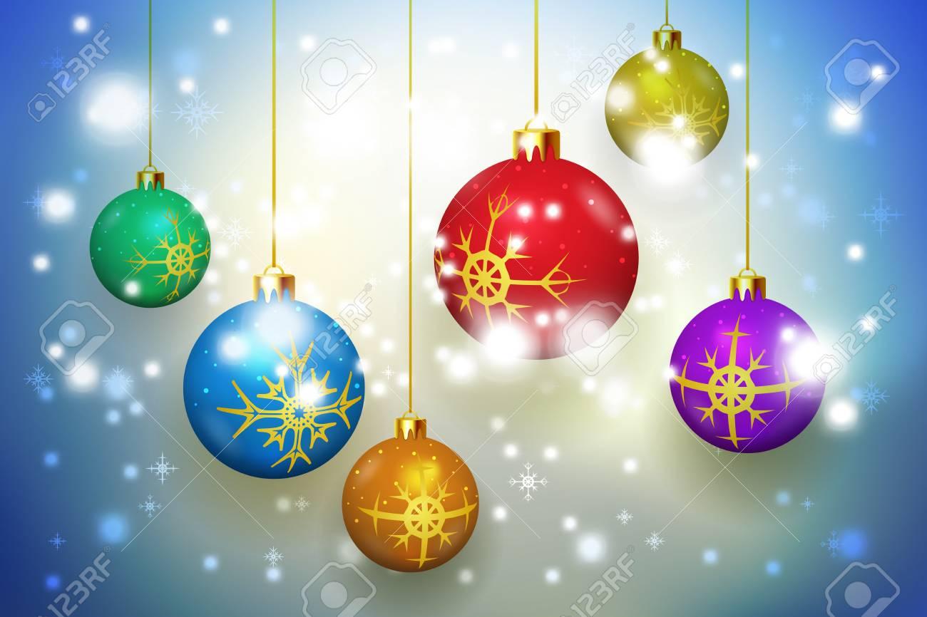 Immagini Glitterate Di Natale.Sfere Di Natale O Sfere Di Nuovo Anno Glitter Sfondo