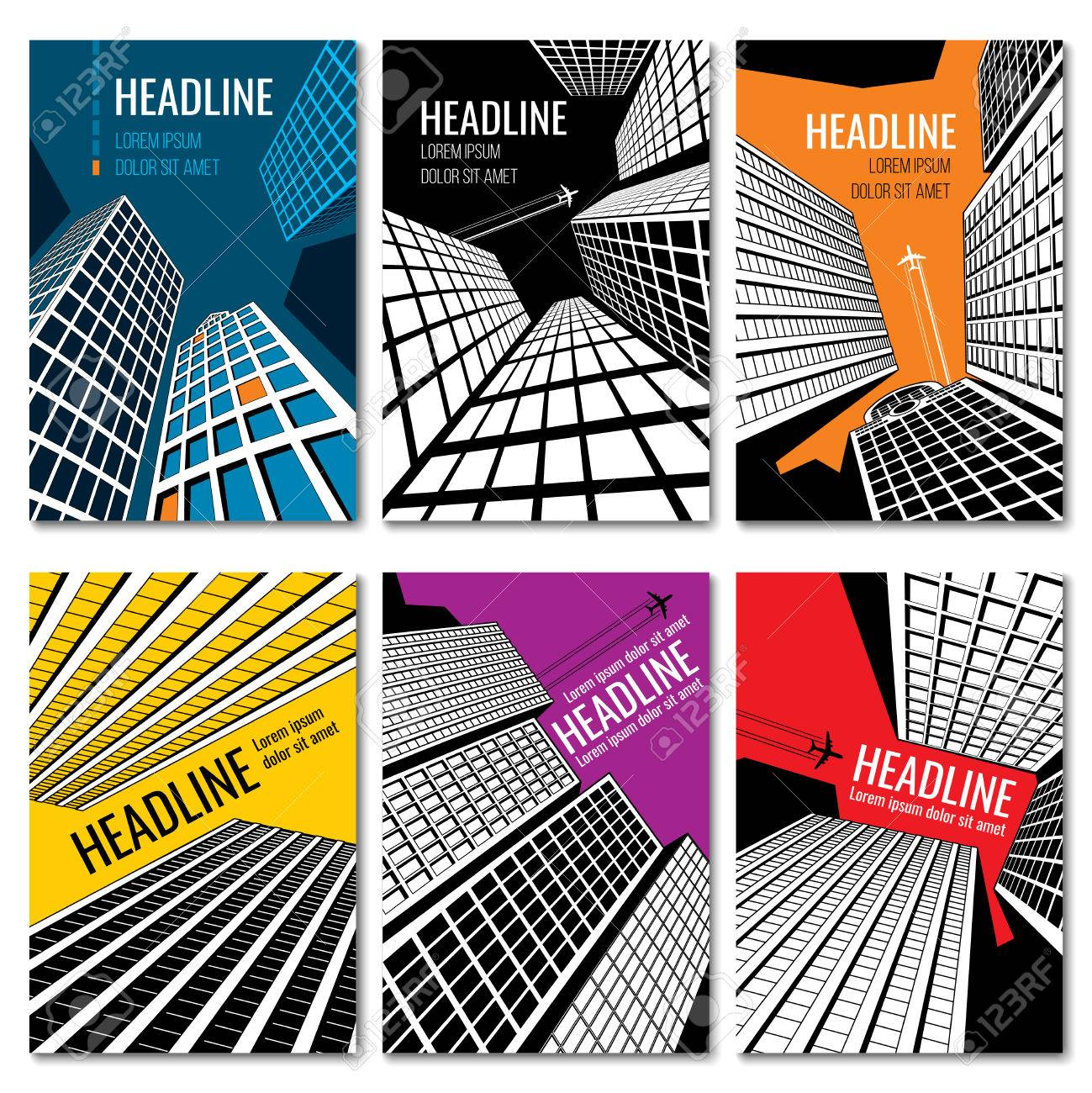 Skyscrapers And Urban Landscape Design Business Brochure Templates
