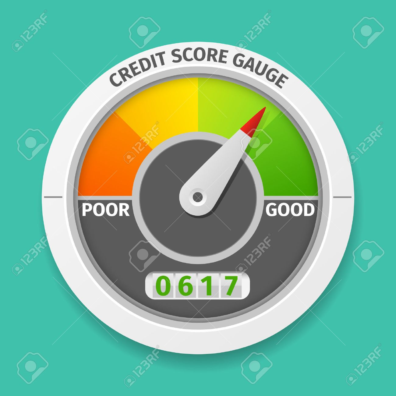 Furniture Design Royalty Rates credit score gauge good and bad rating, information financial