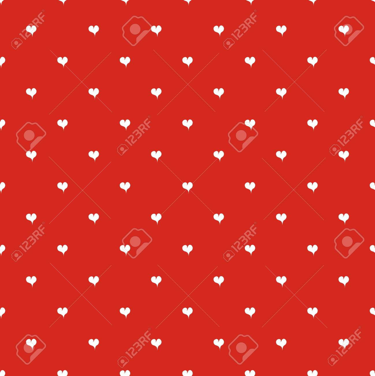 Rotes Muster Des Nahtlosen Tupfens Mit Herzen Hintergrund Fur
