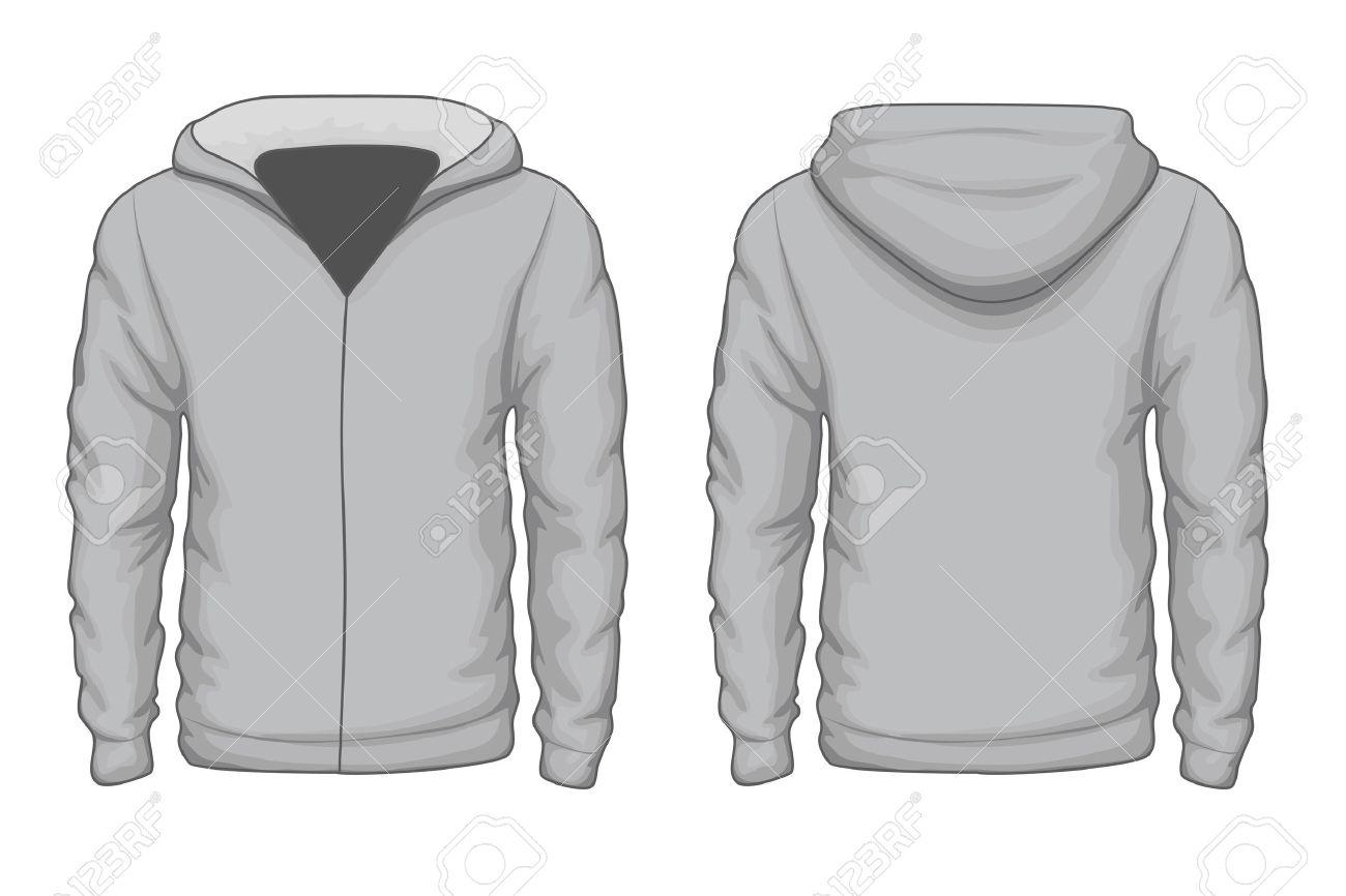 Hoodies Shirt Template. Cloth Fashion, Cotton Sportswear Warm ...