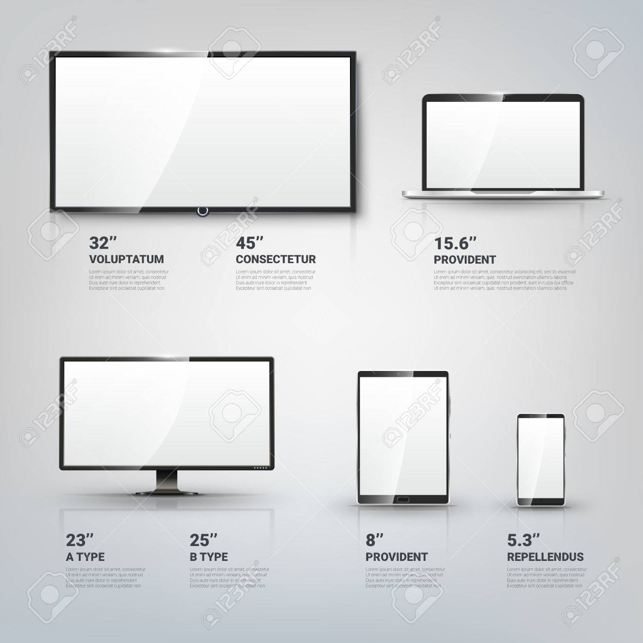 TV screen, Lcd monitor and notebook, tablet computer, mobile