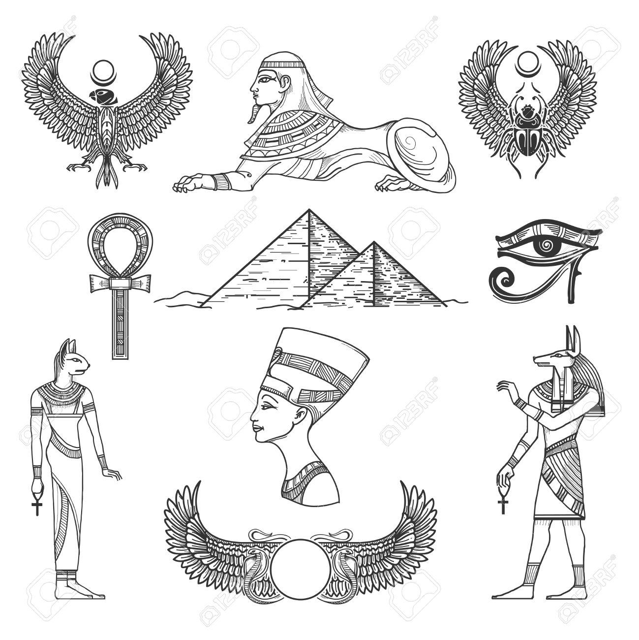 Egypt symbols culture icon character antique pyramid vector egypt symbols culture icon character antique pyramid vector illustration stock vector 51088564 buycottarizona