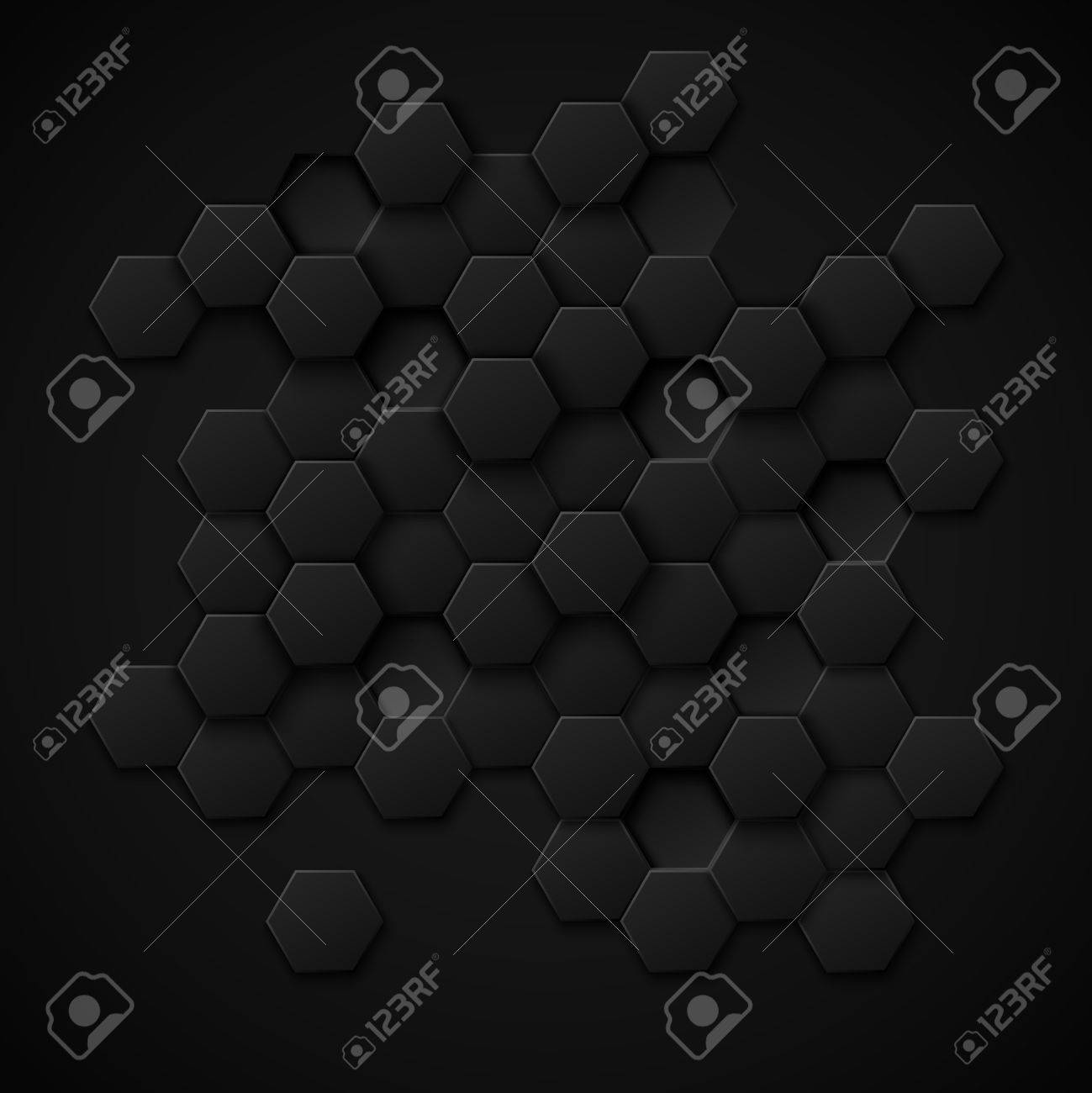 Carbon technology vector abstract background. Design metal black, texture industrial material illustration - 51643715