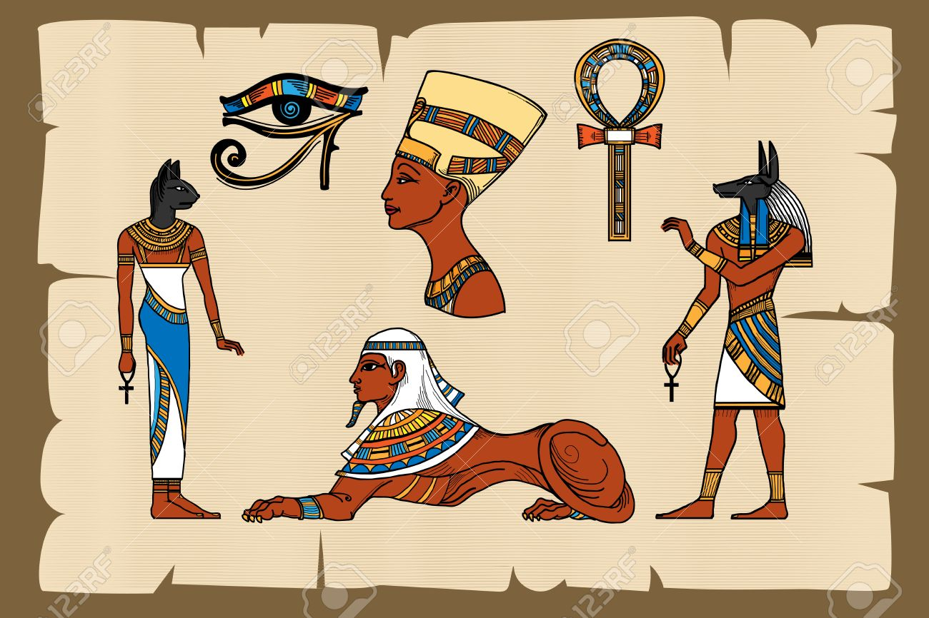Ancient egypt symbols on papyrus papyrus egyptian ancient ancient egypt symbols on papyrus papyrus egyptian ancient history vector illustration stock vector biocorpaavc