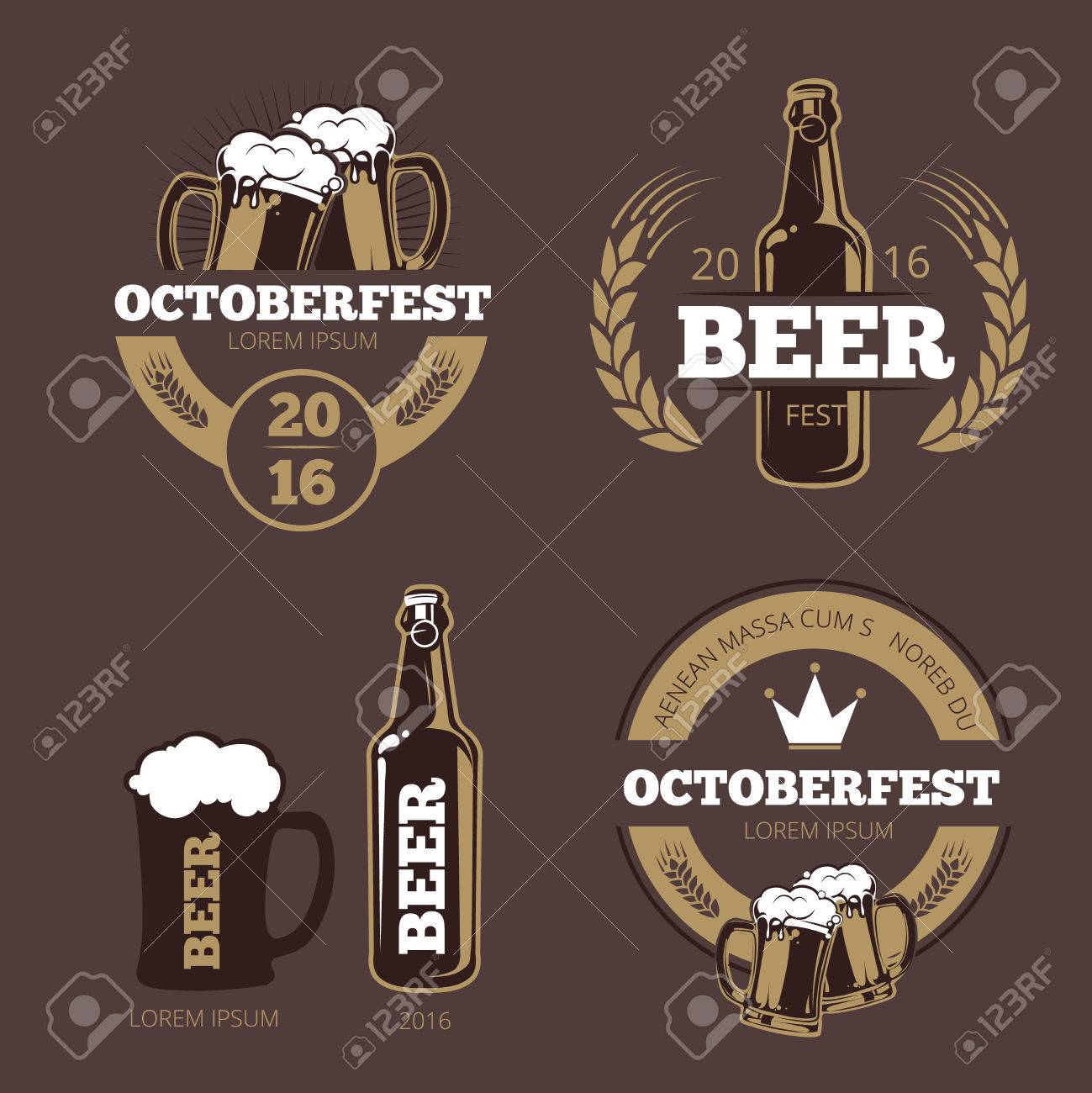 beer label templates for beer house brewing company pub and