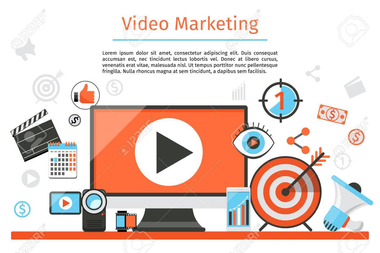 La Comercialización De Vídeo. Resumen De Antecedentes Vector De ...