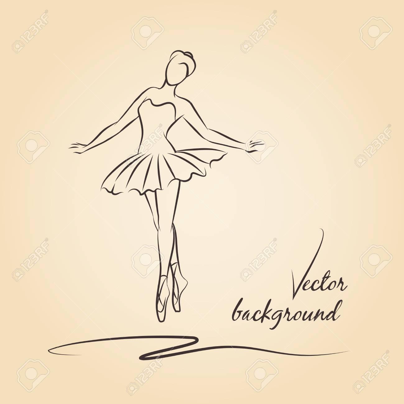 Bailarina Vector De Boceto Bailarina De Nina Rendimiento Ballet Y