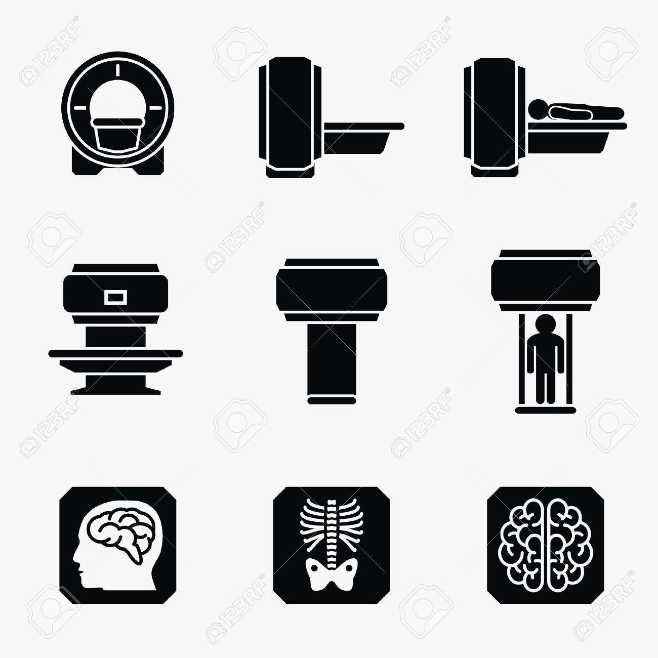 Medical Mri Scanner Diagnostic Scanner Mri Diagnostic Icon Medical