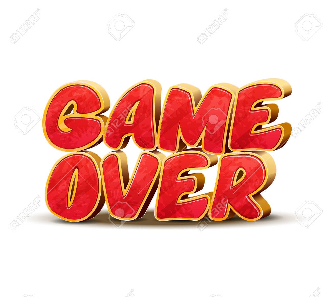 game over icon for game design game over vector interface message
