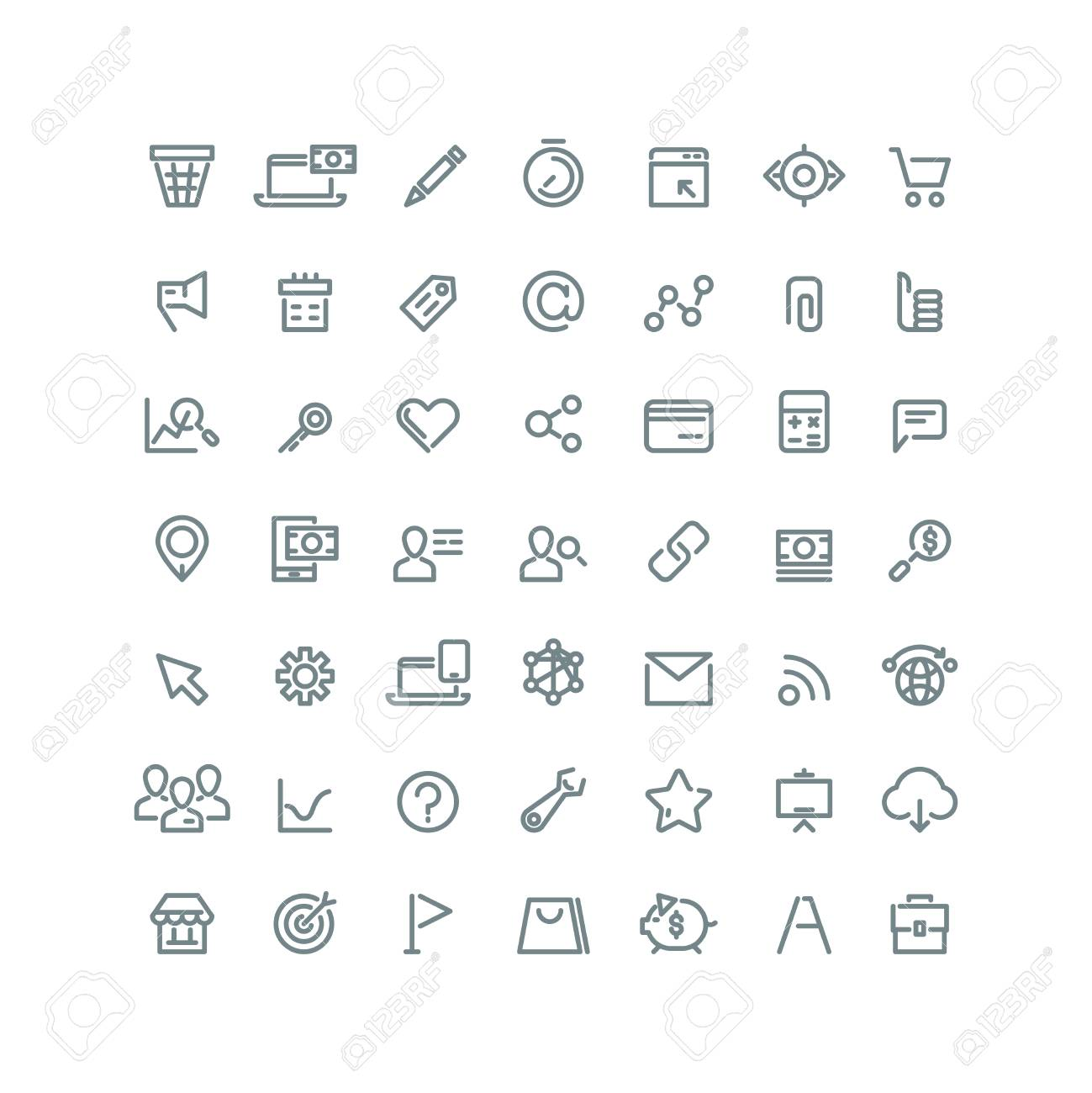 internet digital marketing e commerce line vector icons for royalty free cliparts vectors and stock illustration image 57120228 internet digital marketing e commerce line vector icons for